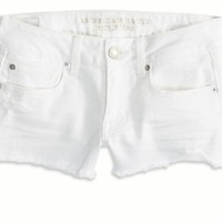 AEO Women's Denim Shortie (White)
