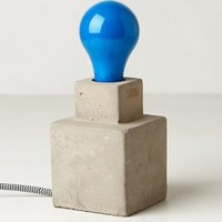 Blue Ceramic Light Bulb  by Anthropologie Blue One Size Lighting
