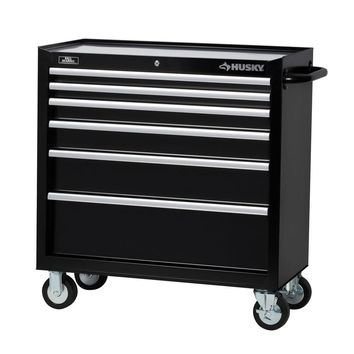 Husky 36 in. 6-Drawer Tool Cabinet, Black-H36TR6 - The Home Depot
