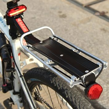 Aluminum Alloy Bicycle Luggage Carrier Cargo Rear Rack Shelf Cycling Seatpost Bag Holder Stand For Bikes Quick Release Design