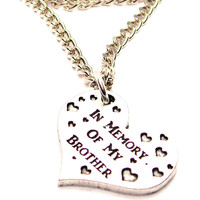 In Memory Of My Brother Single Charm Necklace
