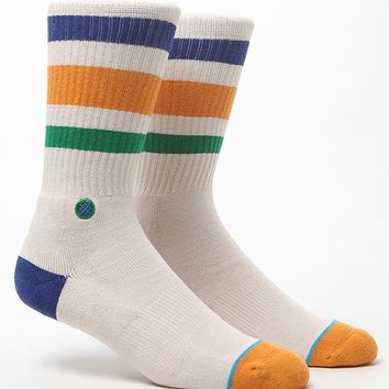 Stance Floyd Crew Socks - Mens Socks - White - One
