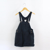VINTAGE Black Overalls Shortalls Denim Jean Small