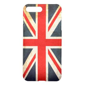 Vintage Union Jack British Flag iPhone 7 Plus Case
