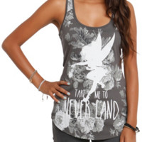 Disney Peter Pan Tinker Bell Floral Girls Tank Top