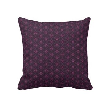 Classy Purple Flowers Throw Pillow