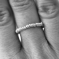 Silver Wire Ring - Wire Wrapped Ring - Twist Ring - Wire Jewelry - Stacking Ring