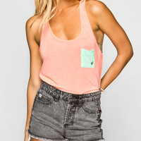 Volcom Color Clash Womens Tank Salmon  In Sizes