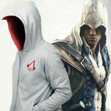 NEW Assassins Creed Hoodies Altair Connor Kenway Cosplay Costume Mens Jackets and Coat