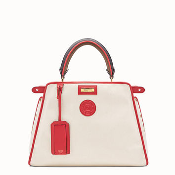 White leather bag with cover - PEEKABOO DEFENDER | Fendi | Fendi Online Store