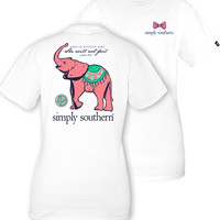 Simply Southern Psalm 46:5 Tee - White