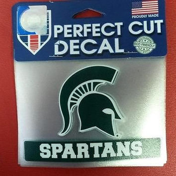 "NCAA Michigan State Spartans Perfect Cut Color Decal 4.5"" x 5.75"""