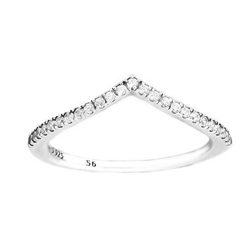 Ring Shimmering Wish Silver Rings For Women Men with Clear CZ Anel Feminino 100% 925 Jewelry Sterling Silver Anillos Wedding