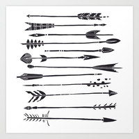 Narrow Boho Arrows Art Print by All Is One