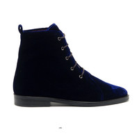 numberbcn — OPENING CEREMONY VELLUTO BOOT NAVY VELVET
