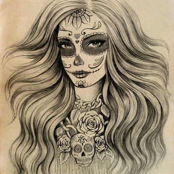 Sugar Skull Art Print by Vivian Lau | Society6