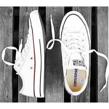 Converse Tide brand classic versatile men and women low canvas shoes White