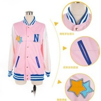 Free! - Iwatobi Swim Club Nagisa Hazuki Cosplay Baseball Jacket Coat customize uniform