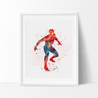 Spiderman 2 Watercolor Art Print
