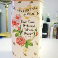 Vintage Rose Flower Perfumed Talcum Powder by Boots by cutandchic