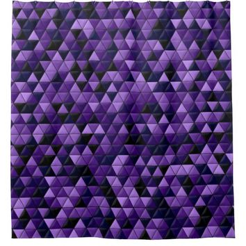 Purple Tiles Shower Curtain