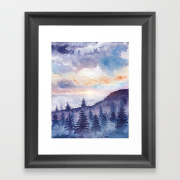 Into The Forest IX Framed Art Print by Marco Gonzalez
