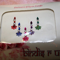 Fancy Pretty Design Bindis with Crystals. Pretty Fancy Bindi collection.