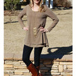 Exceptional Double Layered Shirt Dress - Mocha