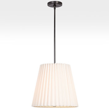 Barton 18in. Pleated Drum Pendant