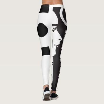 I LOVE YOU LEGGINGS BLACK AND WHITE FACE HAVIC ACD