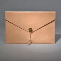 "Leather Laptop Cover 13"" Natural - P.A.P Sweden"