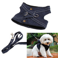 High Quality Practical Dog Harness Canvas Pet Vest Type Traction Rope Puppy Dog Leash Walking Tool