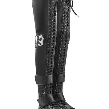 Fenty x Puma by Rihanna - Over-the-Knee Boots with Lace-Up Front