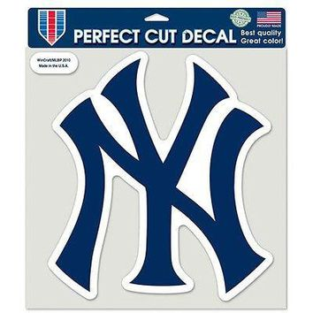 """MLB New York Yankees Primary NY Logo Perfect Die Cut Car Sticker Decal 8"""" x 8"""""""