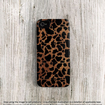 Spots iPhone 4 4s 5 case, Cow iPhone 4 case, Cow iPhone 5 case, High quality 3D printing, brindled cow pattern on leather (c131