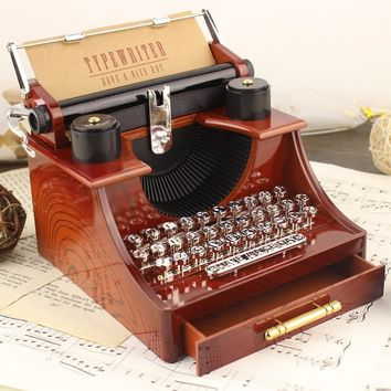 [STOCK] 2018 New Anime Violet Evergarden Typewriter Musical Box  Cosplay Prop For HalloweenFree Shipping For Girlfriend Gift New