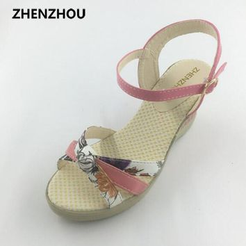 Free shipping hot 2017 Women's shoes Summer style female sandals high platform wedges