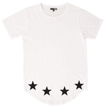 Star White Curved Hem Tall Tee