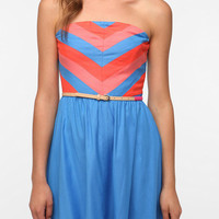 Cooperative Strapless Chevron Stripe Dress