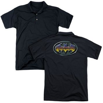 Batman - Hot Rod Shield (Back Print) Mens Regular Fit Polo