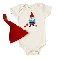 GNOME BABYSUIT & HAT | Organic, Gnome, Cute, Unique, Gifts for New Parents, Gifts for Babies, Gifts for Infants, Gifts for Toddlers | UncommonGoods