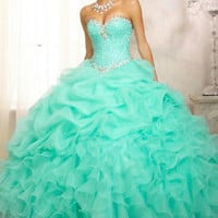 New Quinceanera Formal Prom Party Ball Gown Wedding Dress Custom All Size 2-28