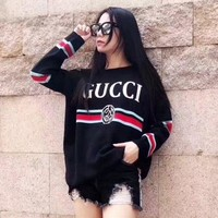 DCCKNQ2 GUCCI Fashion Casual Long Sleeve Sweater Pullover Sweatshirt