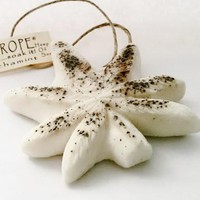 White Widow Dope on a Rope - Vanilla & Peppermint with Ground Mocha Pot Leaf shaped Soap on a Rope
