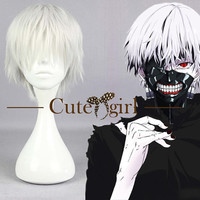 Tokyo Ghoul Kaneki Ken White Short Anime Cosplay Wig Hair Wig Made to Order