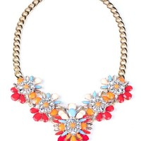Floral Throne Necklace - Rhinestone Jewelry at Pinkice.com