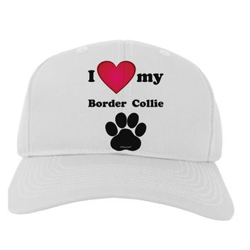 I Heart My Border Collie Adult Baseball Cap Hat by TooLoud