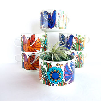 Set of 6 Villeroy & Boch Oversized Acapulco Milano Mugs