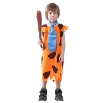 ONETOW Children's Fred Flintstone Halloween Costume Cave stud child Jungle Tarzan caveman Cosplay Fancy dress  Outfit
