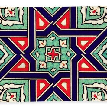 An Ottoman Iznik Style Floral Design Pottery Polychrome, By Adam Asar, No 35a - Bath Towel